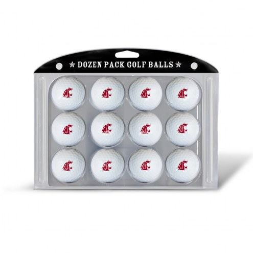 Washington State Cougars Dozen Golf Balls