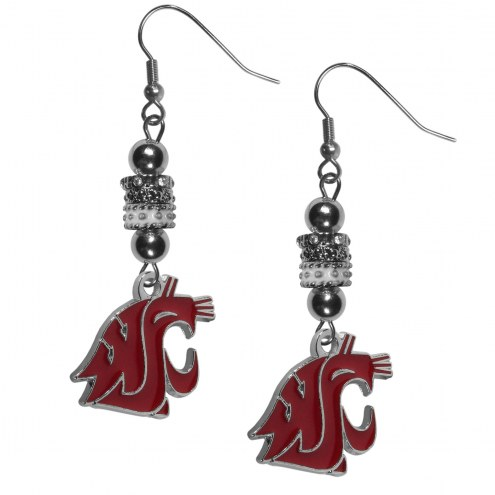Washington State Cougars Euro Bead Earrings