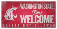 Washington State Cougars Fans Welcome Sign