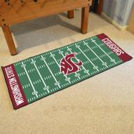 Washington State Cougars Football Field Runner Rug