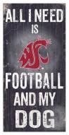 Washington State Cougars Football & My Dog Sign