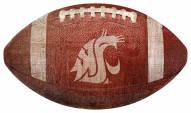 Washington State Cougars Football Shaped Sign