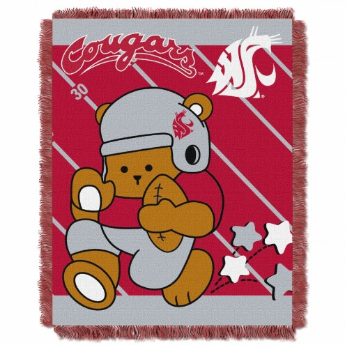 Washington State Cougars Fullback Baby Blanket