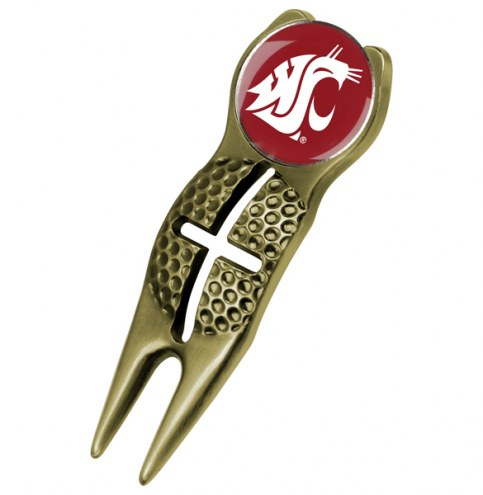 Washington State Cougars Gold Crosshairs Divot Tool