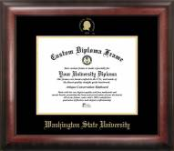 Washington State Cougars Gold Embossed Diploma Frame