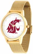 Washington State Cougars Gold Mesh Statement Watch