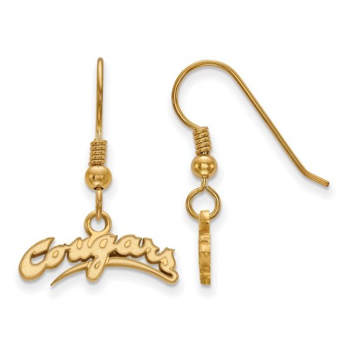 Washington State Cougars Sterling Silver Gold Plated Extra Small Dangle Earrings