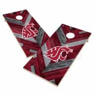 Washington State Cougars Herringbone Cornhole Game Set