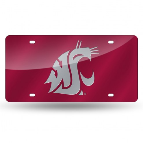 Washington State Cougars Laser Cut License Plate