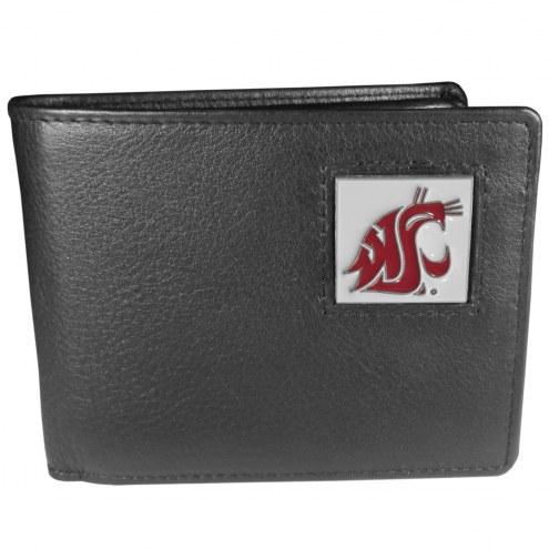 Washington State Cougars Leather Bi-fold Wallet in Gift Box