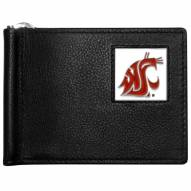 Washington State Cougars Leather Bill Clip Wallet