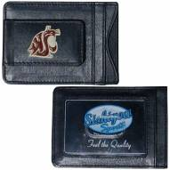 Washington State Cougars Leather Cash & Cardholder