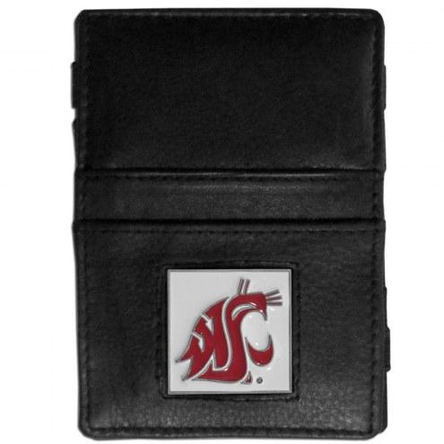 Washington State Cougars Leather Jacob's Ladder Wallet