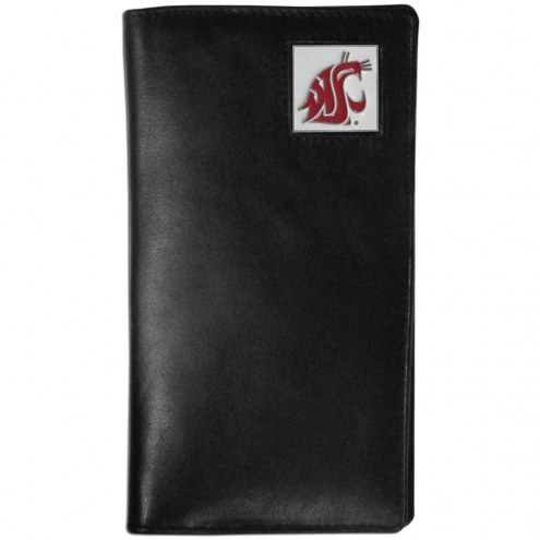 Washington State Cougars Leather Tall Wallet
