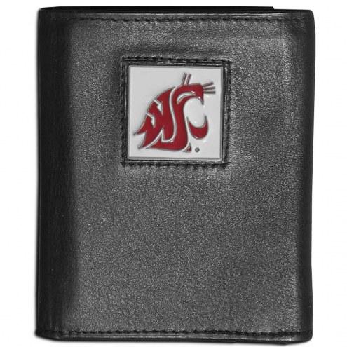 Washington State Cougars Leather Tri-fold Wallet