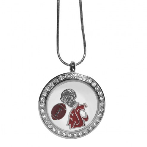 Washington State Cougars Locket Necklace