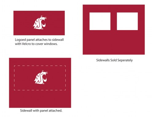 Washington State Cougars Logo Canopy Sidewall Panel (Attaches to Window Sidewall)