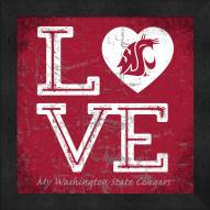 Washington State Cougars Love My Team Color Wall Decor