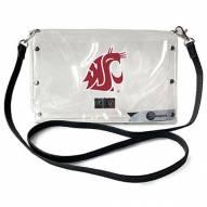 Washington State Cougars Clear Envelope Purse