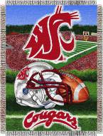Washington State Cougars NCAA Woven Tapestry Throw Blanket