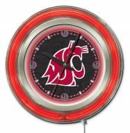 Washington State Cougars Neon Clock