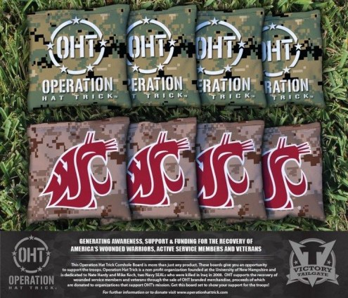Washington State Cougars Operation Hat Trick Cornhole Bag Set