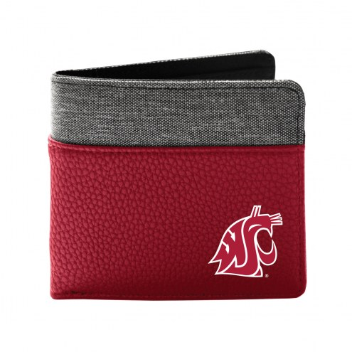 Washington State Cougars Pebble Bi-Fold Wallet