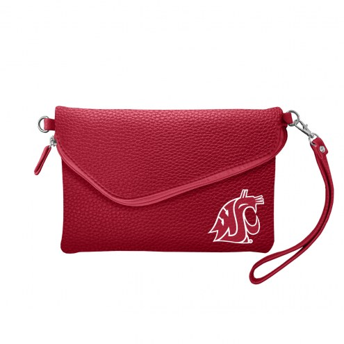 Washington State Cougars Pebble Fold Over Purse