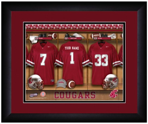 Washington State Cougars Personalized Locker Room 13 x 16 Framed Photograph
