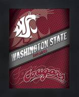 Washington State Cougars Framed 3D Wall Art