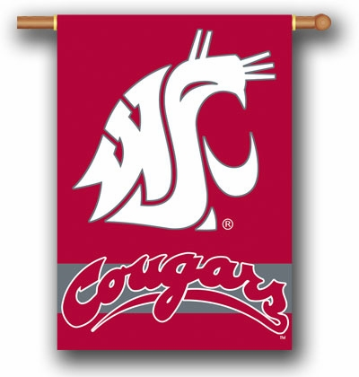 """Washington State Cougars Premium 28"""" x 40"""" Two-Sided Banner"""