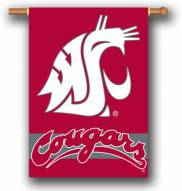 "Washington State Cougars Premium 28"" x 40"" Two-Sided Banner"