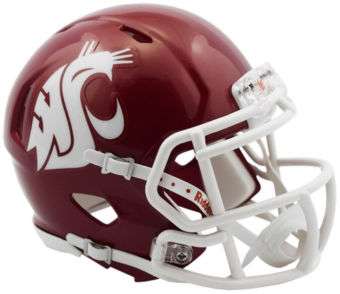 Washington State Cougars Riddell Speed Mini Collectible Crimson Football Helmet