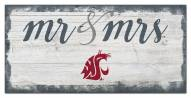 Washington State Cougars Script Mr. & Mrs. Sign
