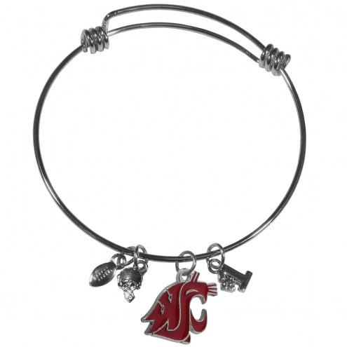 Washington State Cougars Charm Bangle Bracelet