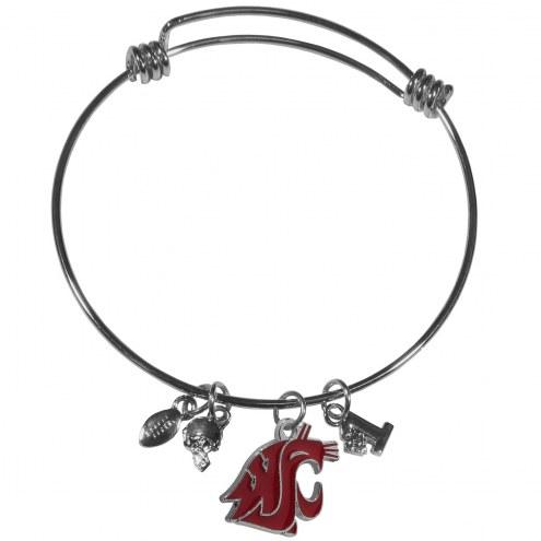 Washington State Cougars Charm Bangle Bracelet