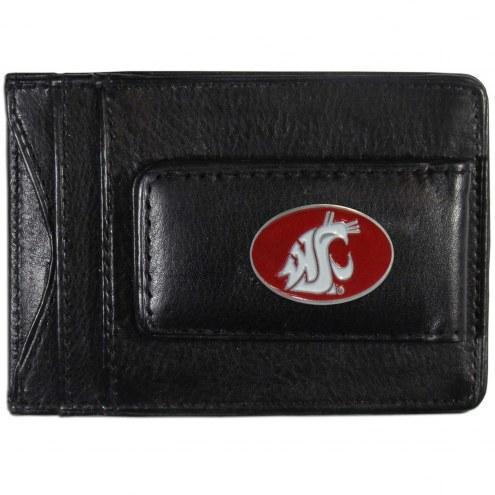 Washington State Cougars Leather Cash & Cardholder