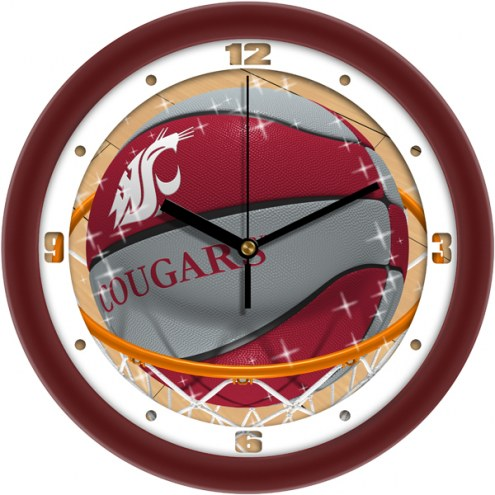 Washington State Cougars Slam Dunk Wall Clock