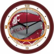 Washington State Cougars Slam Dunk Wall Clock