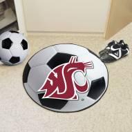 Washington State Cougars Soccer Ball Mat