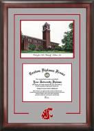 Washington State Cougars Spirit Diploma Frame with Campus Image