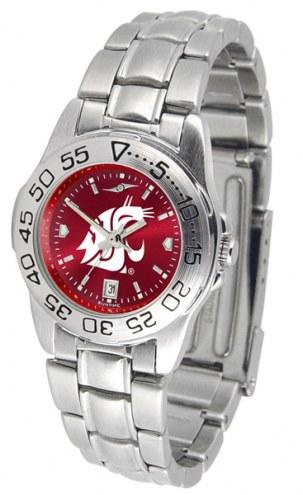 Washington State Cougars Sport Steel AnoChrome Women's Watch