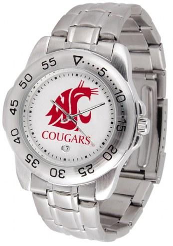 Washington State Cougars Sport Steel Men's Watch