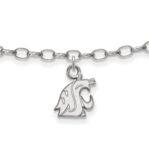 Washington State Cougars Sterling Silver Anklet