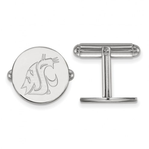 Washington State Cougars Sterling Silver Cuff Links