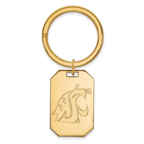 Washington State Cougars Sterling Silver Gold Plated Key Chain