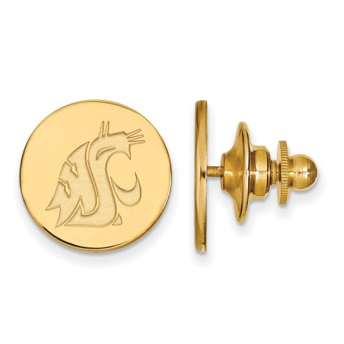 Washington State Cougars Sterling Silver Gold Plated Lapel Pin