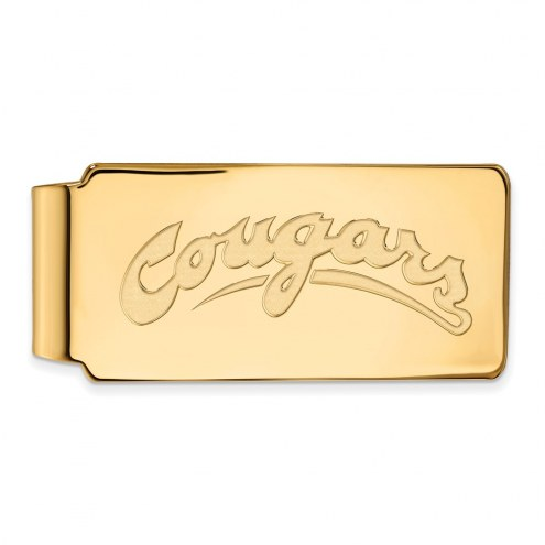 Washington State Cougars Sterling Silver Gold Plated Money Clip
