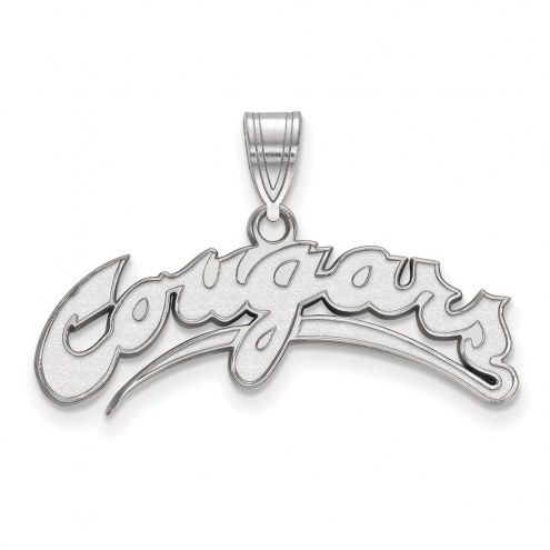 Washington State Cougars Sterling Silver Large Pendant