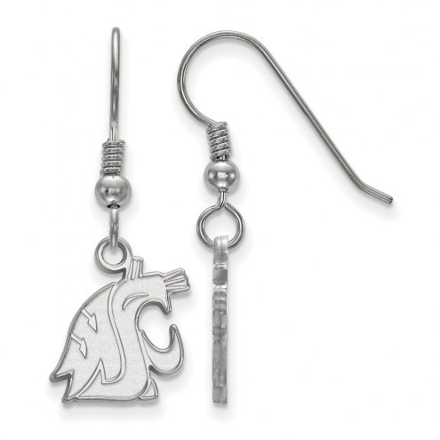 Washington State Cougars Sterling Silver Small Dangle Earrings